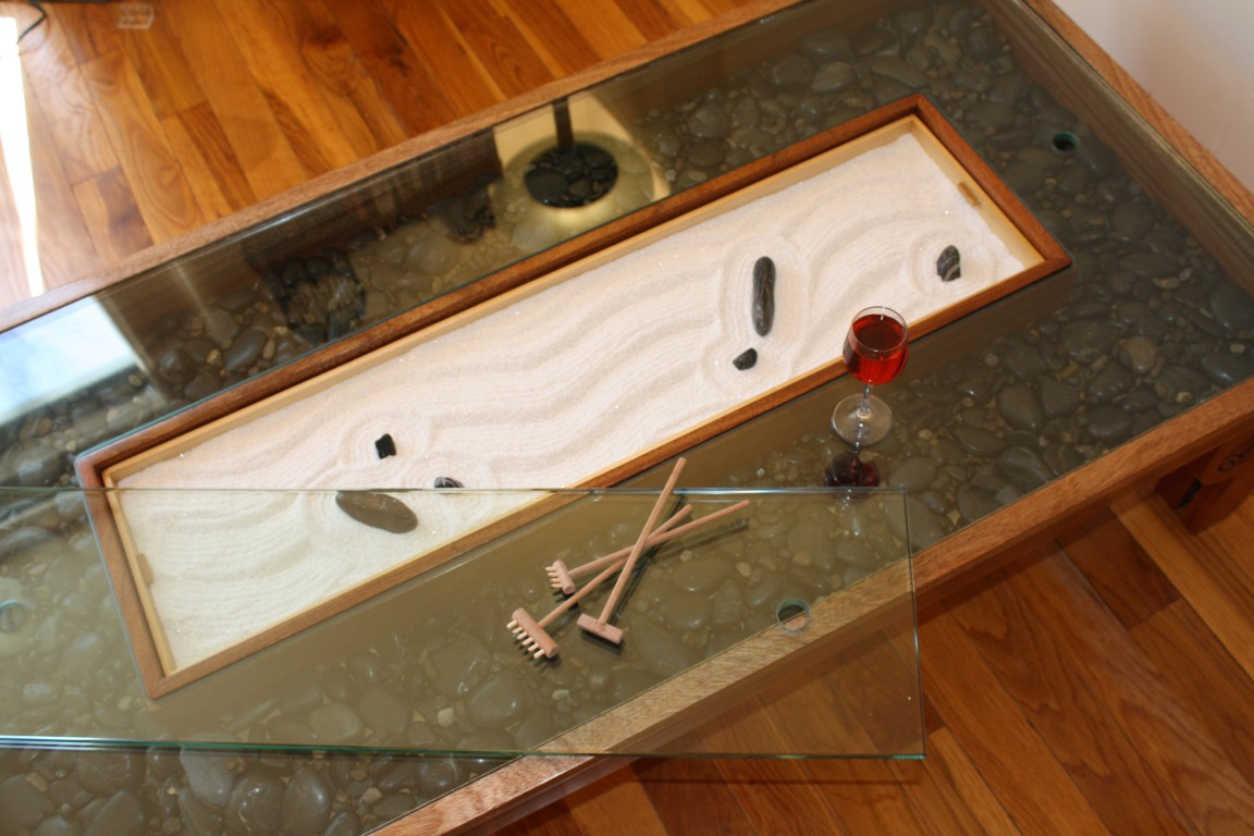 Zen garden coffee table the fine art of vincent m for Table zen garden